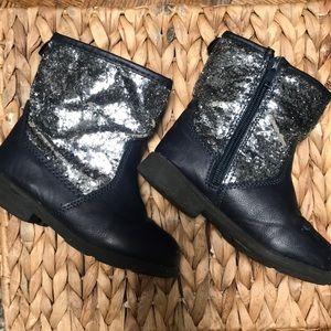 Navy Blue Carters Sparkle Boots